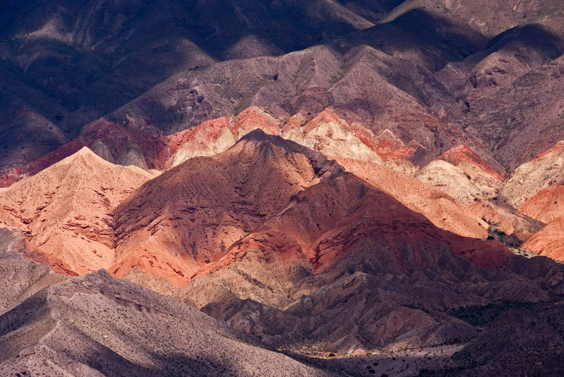 The Andes mountains in the Quebrada de Humahuaca, Argentina