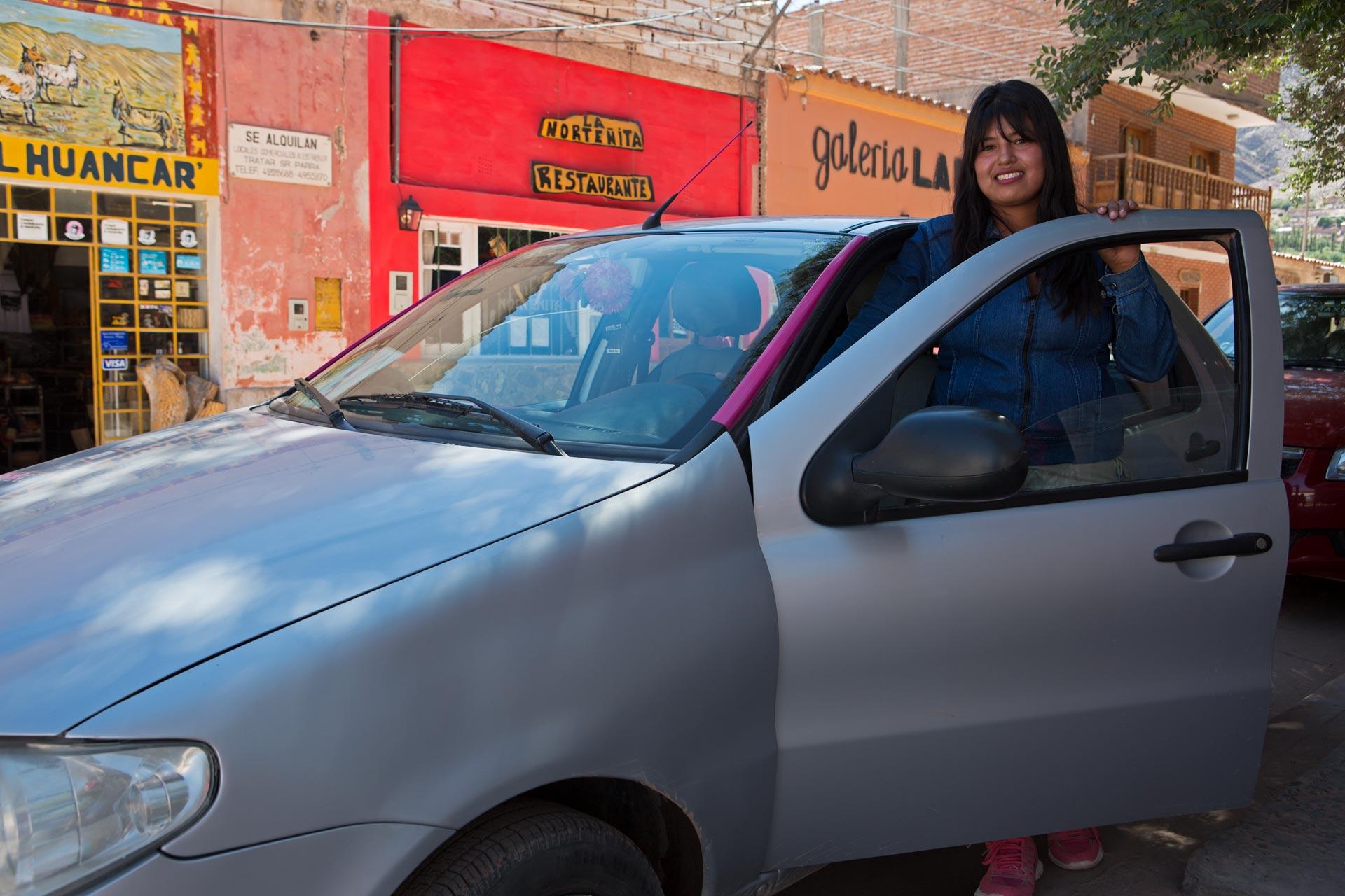 Zaida, taxista en Tilcara