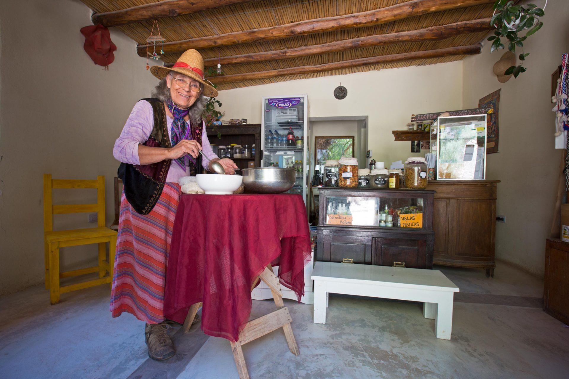 abuela Rosa y su súper granola artesanal en Tilcara