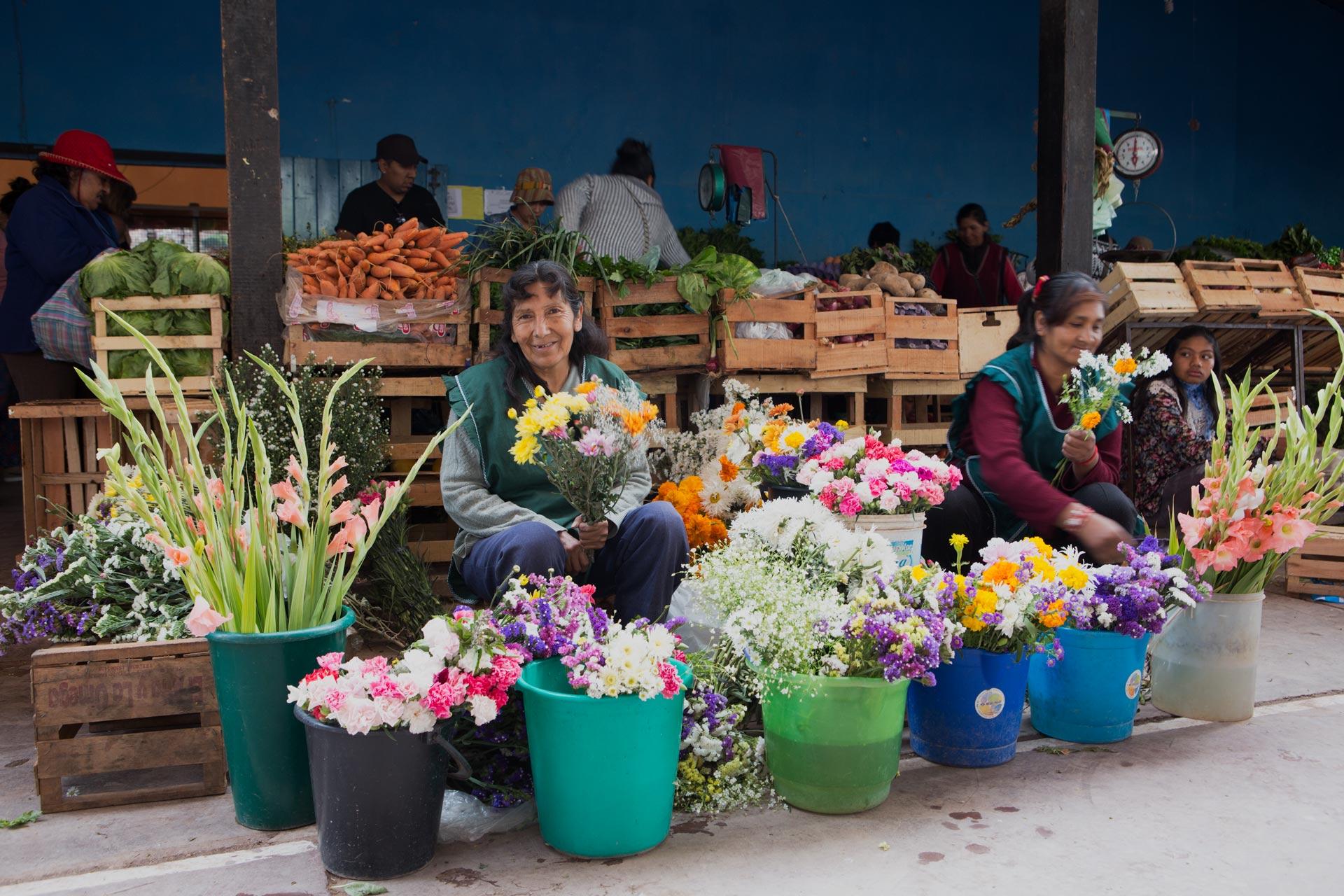la florista Margarita y sus colegas